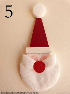Anche un dischetto struccante può trasformarsi in qualcosa di originale.Un dischetto tondo di cotone può diventare una soffice barba di Babbo Natale. A domani sera.Maestra Valentina
