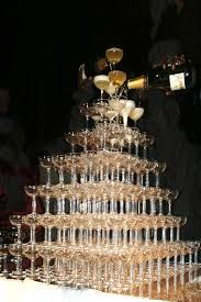 champagne tower wedding - Google Search