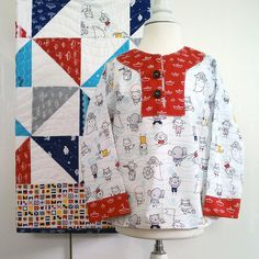 charli tunic, quilt, background, sea