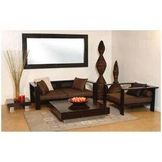 Induscraft Sheesham Wooden 4 Seater Sofa Set