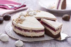 recipe_for Gesztenye mousse torta Mousse, Tiramisu, Fondant, Cheesecake, Sweets, Cookies, Baking, Ethnic Recipes, Food
