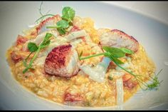 Risotto at Signatures Restaurant Aberconwy Resort and Spa Darwin, Resort Spa, Risotto, Menu, Restaurant, Chicken, Ethnic Recipes, Food, Kitchens