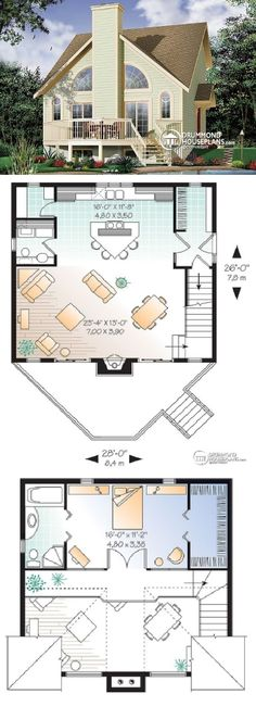 Drummond House Plans #W2927 The Larchmont :: 1148 sq. ft.