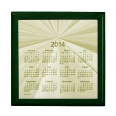 Jade Star 2014 Box Calendar Time Capsule Design from Calendars by Janz $33.70