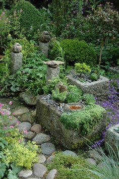 Inger & Jørn Møller Jensen's Gardens - Modern Moss Garden, Garden Pots, Amazing Gardens, Beautiful Gardens, Low Maintenance Garden, Tropical Garden, Shade Garden, Dream Garden, Garden Cottage