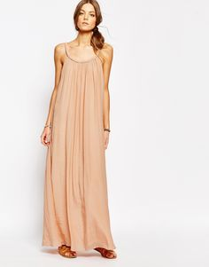 Image 1 ofSuncoo Ropeneck Maxi Dress in Pink
