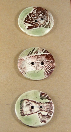 Handmade Ceramic fish buttons by Jocahama on Etsy, $15.00