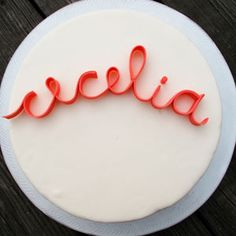 Edible Script Letters // dining