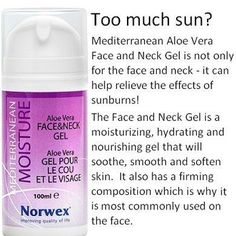 This PDF covers the Norwex Mediterranean Moisture, Aloe Vera Face & New Gel, product uses and ingredients. A moisturising, hydrating and nourishing gel for the face and neck to be used after cl… Norwex Cleaning, Norwex Biz, Norwex Consultant, Independent Consultant, Norwex Party, Aloe Vera For Face, All Natural Cleaners, Eco Friendly Cleaning Products, Chemical Free Cleaning