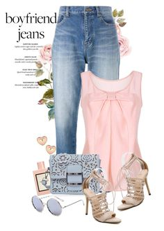 """Boyfriend jeans"" by yexyka ❤ liked on Polyvore featuring Yves Saint Laurent and Gucci"