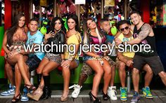 Watching Jersey Shore  #Little reasons to smile