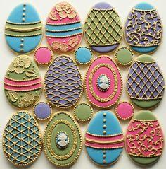 Stunning egg cookies by sweetambs