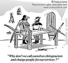 'Why don't we call ourselves chiropractors and charge people for our services?' by BART