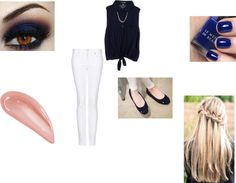"""""""Nay blue and gold outfit"""" by taytay5559 on Polyvore"""