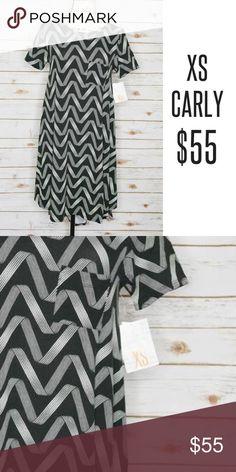 Ribbon Carly Dress Black and white ribbon pattern Carly dress. Comfy, lularoe's finest! LuLaRoe Dresses