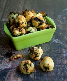 Kale and Potato Nuggets recipe from The Vegan Air Fryer by JL Fields Air Fryer Recipes Vegan, Vegan Recipes, Vegan Meals, Potato Recipes, Vegan Foods, Vegan Snacks, Jerky Recipes, Drink Recipes, Free Recipes