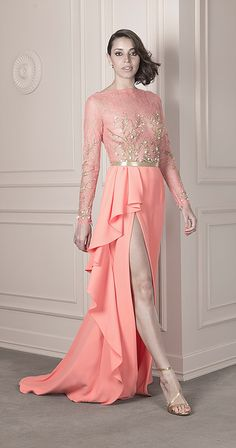 Spring / Summer 2016 | João Rolo Haute Couture Dresses, Spring Summer 2016, Special Events, Evening Gowns, Formal Dresses, Coral, Sign, Google, Fashion