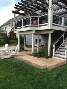 Stamped concrete patio with simulated wood plank boarders by Sierra Concrete Arts. Concrete Patios, Concrete Art, Stamped Concrete, Boarders, Wood Planks, Mansions, House Styles, Home Decor, Decoration Home