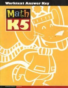 Bob Jones Math K5 student worktext answer key  3rd edition. Item #: BJK5211250 Retail Price: $35.50 Our Price: $19.96