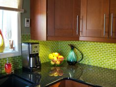 Kitchen Backsplash tile including glass mosaic tile backsplash, subway tile backsplash, ceramic tile, porcelain tile, artistic and designer tile and recycled glass and sustainable tiles for kitchens