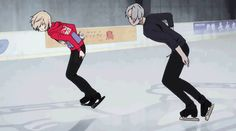 Find images and videos about gif, anime and yuri on ice on We Heart It - the app to get lost in what you love. Chris Yuri On Ice, Yuri On Ice Yurio, Yuri On Ice Comic, Yuri Plisetsky, Anime Gifs, Anime Manga, Mixtape, Yuri!!! On Ice, Fangirl