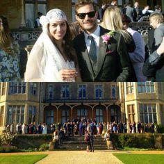 Jamie And Amelia on their wedding day