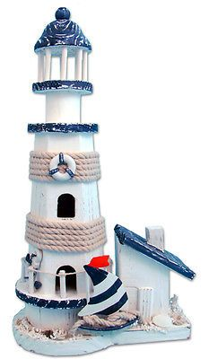 Ocean Blue Lighthouse Wooden Handmade Nautical Decor | Collectibles, Decorative Collectibles, Lighthouses | eBay!