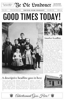 School Newspaper Template 4 Page Google Docs Compatible Old