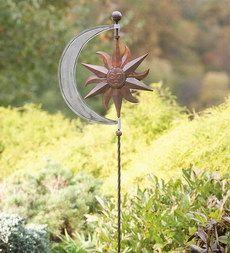 Celestial Steel Wind Spinner Garden Art
