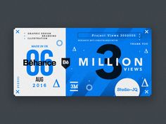 ∆ 3 Million. Thank You ∆ designed by MadeByStudioJQ. Connect with them on Dribbble; the global community for designers and creative professionals. Graphic Design Branding, Graphic Design Illustration, Logo Design, Print Design, Web Design, Layout Design, Ticket Design, Backdrop Design, Postcard Design