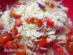 Fotorecept: Kalerábovo-paradajkový šalát