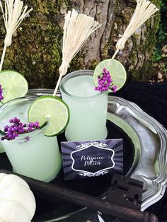 Drinks at a Harry Potter birthday party! See more party ideas at CatchMyParty.com!