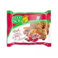 Os Cookies Integrais de Soja Maçã com Canela e Passas da GoodSoy são uma deliciosa opção sem Glúten e sem Lactose para o seu dia a dia! Compre online aqui no Empório Ecco e receba na sua casa!