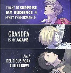I love how everyone's is poetic and yuris a pork cutlet bowl