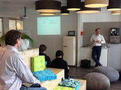 René Jongen giving a workshop on business models 23th April