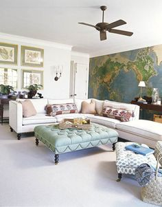 using maps in decor