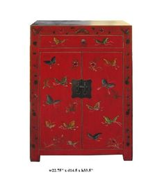 Chinese Red Base Color Butterflies Graphic End Table Avs555 by A Mid Cabinet, http://www.amazon.com/dp/B005K22ME0/ref=cm_sw_r_pi_dp_DMk3rb0XMBDZE