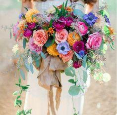 Boho wedding bouquet wild flowers