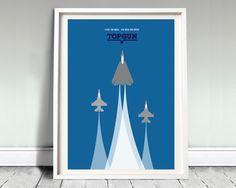 "TOP GUN - movie poster: 12x16"" art, print, film, top gun print, iceman, goose, minimal print, tom cruise, airplane print, illustration,"