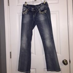 size 26 authentic miss me jeans! excellent condition! only worn maybe 4 or 5 times! size 26! buy through PayPal for $60 and you'll receive free shipping and a tracking number! Miss Me Jeans Boot Cut