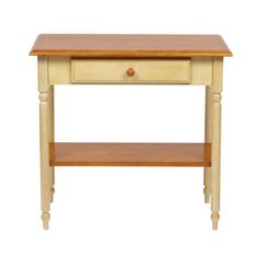 Country Cottage Transitional Buttermilk Cherry Solid Wood Foyer Table