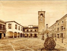 Pirograbados de Jurgen H. Loos: pirograbados en madera de haya, chopo y tilo de paisajes y escenas tradicionales españolas...