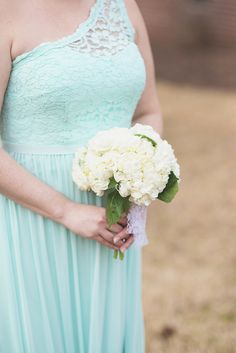 Blush, mint, and ivory spring wedding | Bridal party portraits