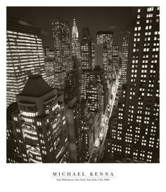 East 40th Street, New York, 2006 Print by Michael Kenna at Art.com