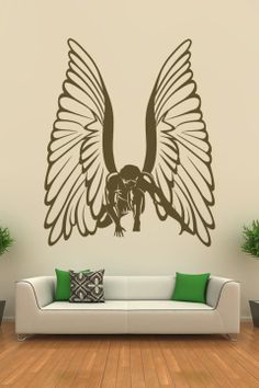 1000 images about angel wall decals on pinterest wall for Angel wall mural