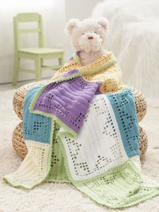 Using different crochet colors you can easily whip up this Starlight baby blanket. It would make a fabulous baby shower gift for an expectant mother.