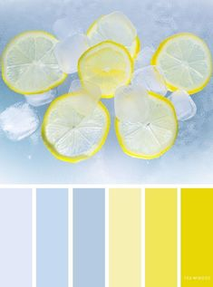 Blue and lemon color scheme Blue and lemon color scheme ,color palette - Looking for color inspiration? At fab mood you will find of beautiful color palette, color palette . Color Schemes Colour Palettes, Colour Pallette, Color Combinations, Summer Color Palettes, Nature Color Palette, Paint Color Schemes, Yellow Color Schemes, Vintage Color Schemes, Palette Art