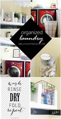 ORGANIZED LAUNDRY SPACE - Place Of My Taste