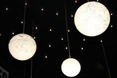 semeur d'étoiles Lampe suspension contemporaine (LED) LUNES  verres soufflés raffinés