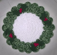 Christmas Wreath Placemat from Crochet Memories